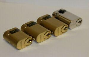 Sterling Single OVAL PROFILE CYLINDER 40mm/45mm/50mm Brass / Nickel