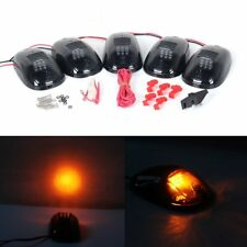 5x Amber LED Lights Smoked Lens Cab Roof Marker Running Lamps For Truck 4x4 SUV
