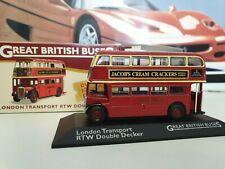 ATLAS EDITIONS - RTW DOUBLE BUS - LONDON  TRANSPORT - 1/72 SCALE MODEL - OXFORD