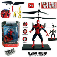 MARVEL SPIDER-MAN FIGURE ELECTRIC RC RADIO REMOTE CONTROL HELICOPTER KID BOY TOY