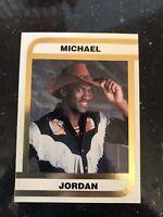1992 Oddball Michael Jordan Cowboy Hat Outfit Gold Foil MJ Promo NMMT Card