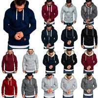 Men Hoodie Hooded Sweatshirts Sport Sweater Pullover Winter Zip Coat Jackets Top