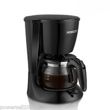 New Black Household Semi-Automatic Coffee Maker Machine Steam Coffee Pot