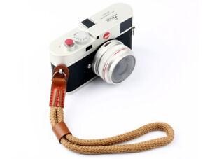 Nylon Rope Camera Hand Wrist Strap Lanyard DSLR Bridge Compact Brown - UK SELLER