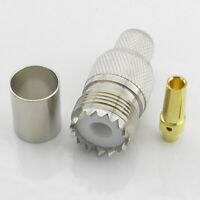 SO239 Female Crimp In-Line Socket for RG213 LMR400 RG8 Westflex 103 UHF PL259