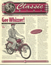 CLASSIC BIKE NEWS Whizzer antique bicycle newsletter Volume 2 Number 1