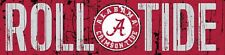"Alabama Crimson Tide ROLL TIDE Football Wood Sign NEW 16"" x 4""  Decoration Gift"