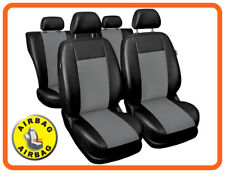 Car seat covers fit Toyota Avensis - full set black/grey leatherette