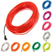 20M LED Atmospher e Glow EL Wire Luminescent Neon String Strip Lights    Q