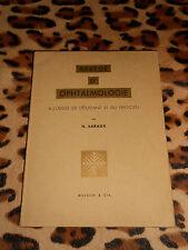 Abrégé d'ophtalmologie - H. Saraux - Masson, 1962