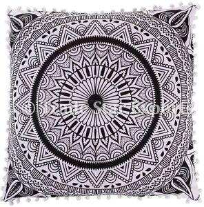 Large Euro Sham Mandala Cushion Cover 26x26 Ethnic Square Throw Pillow Case