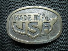 Made In Usa Belt Buckle! Vintage! Rare! 1970s! Usa! Dress Buckle!