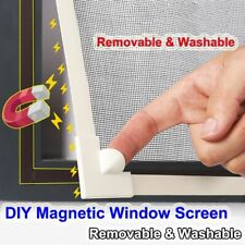 Mosquito Screen Net Adjustable DIY Customize Magnetic Window Protector Curtain