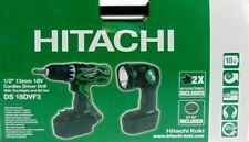 HITACHI DS18DVF3 HiKOKI AKKUSCHRAUBER 18V SCHRAUBER SET AKKU LAMPE KOFFER LADER