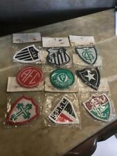 Lot of 9 Antique Brazilian Soccer Team Patches Brazil Palmeira São Paulo