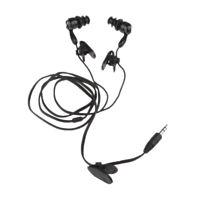 3.5mm AUX Music Waterproof IPX8 Underwater Muisc Earphone Headset Black