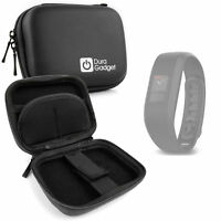 Hard Black 'Clam' Style EVA Case w/ Carabiner for Garmin VivoFit 3 Smart Watch