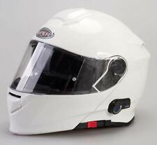 Viper Rs-v171 Plain Bluetooth Flip up Motorcycle Scooter Helmet Pinlock L White