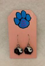 Cat Yin Yang earrings