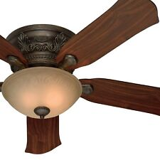 "52"" Hunter Formal Ceiling Fan - Roman Bronze Finish - Flush Mount Only"
