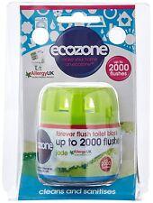Ecozone Forever Flush 2000, Toilet Block, Jade, Cleans and Sanitises Vegan
