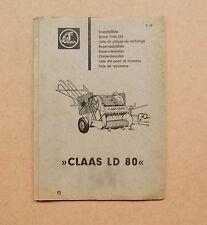 CLAAS Niederdruckpresse  LD 80  Ersatzteilliste Original 1965