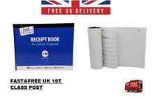 With Carbon Receipt Book Numbered Cash Duplicate Half Size 1 - 80 Pages Pad