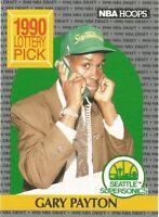Gary Payton Hoops Rookie RC 1990/91 NBA Basketball Card #391