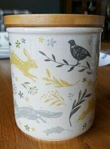 Cooksmart Woodland Collection Sugar Canister /Jar, hare / pheasant / hedgehog