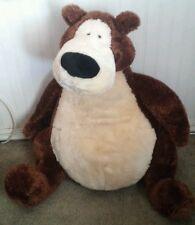 """HTF Gund 27"""" Goober Bear Plush Large Jumbo Brown Fuzzy Sitting"""