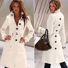 Cappotti e giacche da donna trench bianchi con bottone