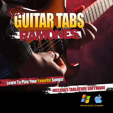 Guitar Lessons The Ramones Songs Learn How To play Tablature + Tab Software CD-R