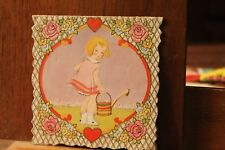 ca. 1900's Antique Valentine's Day Card Die Cut Embossed Carrington