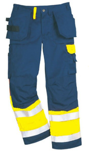 """Fristads 100479 Hi-Vis Trousers Workwear Work Kneepad Pockets W36"""" - L32"""""""