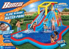 Banzai Slide N Soak Splash Park Inflatable Water Slide Swimming Pool For Kids