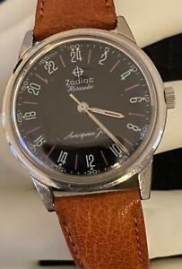 Vintage ZODIAC Hermetic Aerospace Jet 24 Hour Watch