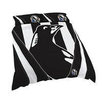 Collingwood Magpies AFL DOUBLE Bed Quilt Doona Duvet Cover Set NEW 2018* GIFT