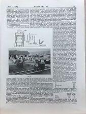 Peat Gas Analyser: 1908 Engineering Magazine Print