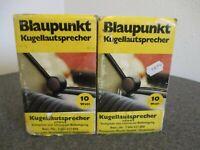 NIB SET 1970s BLAUPUNKT GLOBE SPEAKERS 10WATT 7 606 527 GERMANY - NEW OLD STOCK