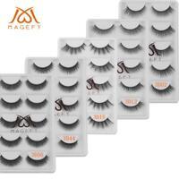 5 Pairs Beauty 3D Mink Fake Eyelashes Natural Wispy Cross False Lashes Makeup