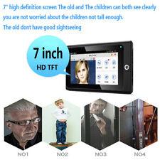 7inch 2.4G WIFI Indoor Monitor System Home Security Wireless Doorbells Kit US