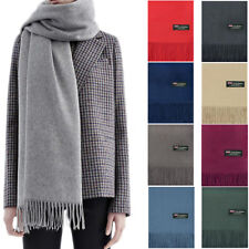 d6931d7d5 Mens Womens Oversized Blanket 100% Cashmere Scarf Shawl Wrap Solid Scotland  Wool