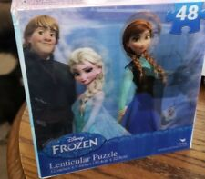 Disney Frozen Anna Elsa Lenticular Puzzle 3D 48 Piece