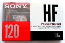 SONY HF 120 NORMAL POSITION TYPE I BLANK AUDIO CASSETTE TAPE - JAPAN 1990