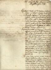 Permesso di Utilizzo della Fonte del Bercio in Massa Macinaia 1780