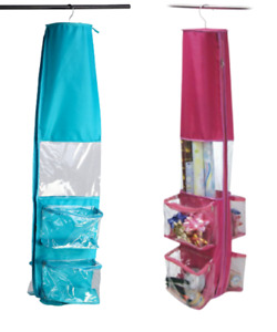 Hanging Gift Wrapping Paper Storage Bag Organizer - 4 Bow Compartments