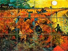 Vineyard Vincent van Gogh Mural Ceramic Backsplash Tile #898