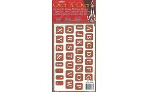 Over 'N' Over Reusable Glass Etching Stencil By Armour Etch Alphabet Upper Case