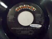 Starship Nothing's Gonna Stop Us Now / Layin' It On The Line 45 '87 Vinyl Record