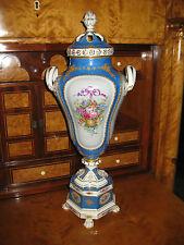 Dresde potschappel porcelana figura jarrón tapa jarrón Ángel esplendor 57 cm rey jarrón